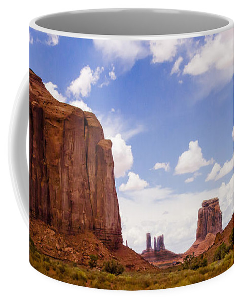Landscape Coffee Mug featuring the photograph Monument Valley - Arizona by Jon Berghoff