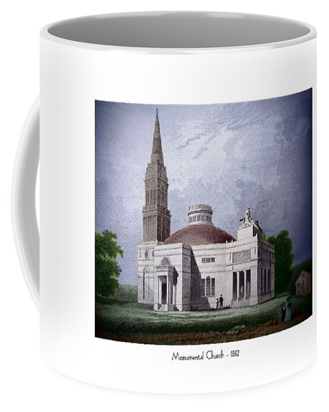 Monumental Church Coffee Mug featuring the digital art Monumental Church - 1812 by John Madison