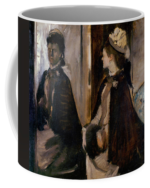 Edgar Degas Coffee Mug featuring the painting Mrs Jeantaud In The Mirror by Edgar Degas