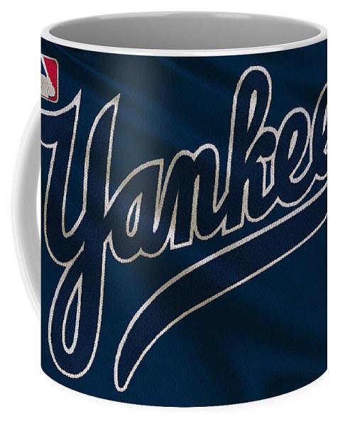 Yankees Coffee Mug featuring the photograph New York Yankees Derek Jeter by Joe Hamilton