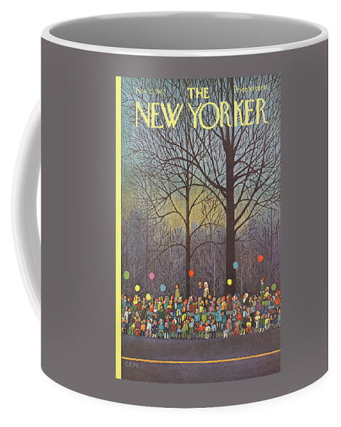 Charles E. Martin Coffee Mug featuring the painting New Yorker November 25th, 1972 by Charles E Martin