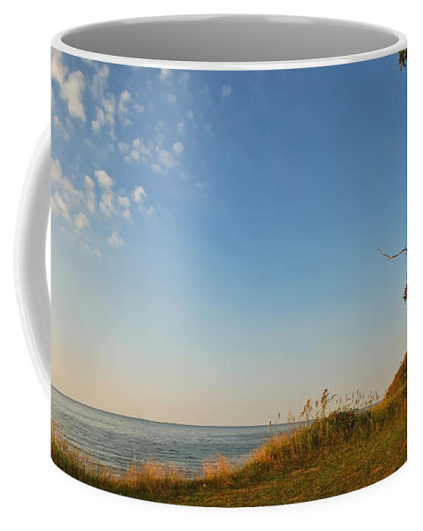Ostsee Coffee Mug featuring the pyrography Nienhagen by Steffen Gierok