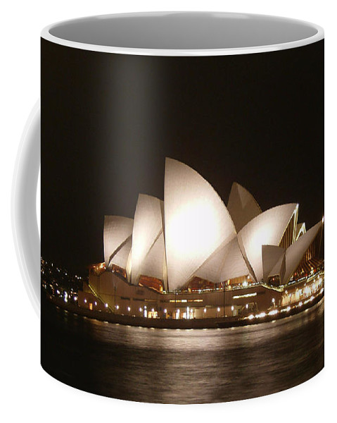 Night At The Opera Coffee Mug featuring the photograph Night At The Opera by Ellen Henneke