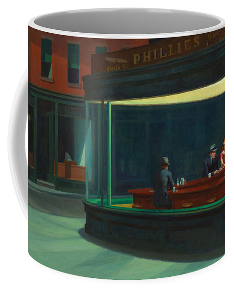 Edward Hopper Coffee Mug featuring the photograph Nighthawks by Edward Hopper