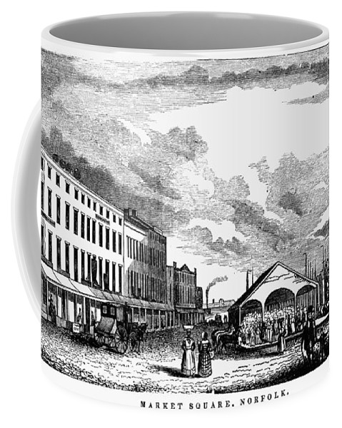 1856 Coffee Mug featuring the painting Norfolk, Virginia, 1856 by Granger