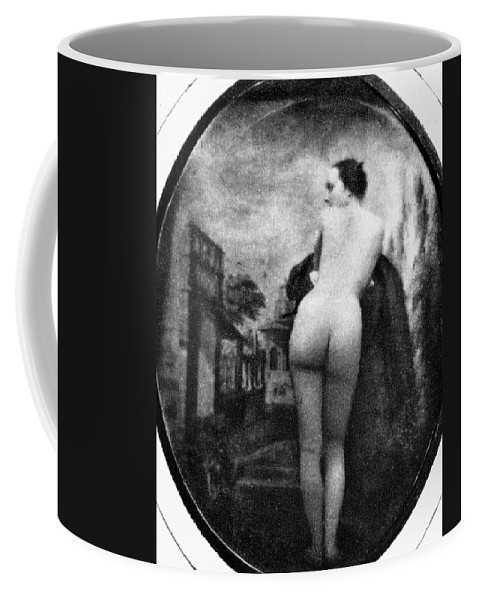 1843 Coffee Mug featuring the photograph Nude Posing: Rear View by Granger