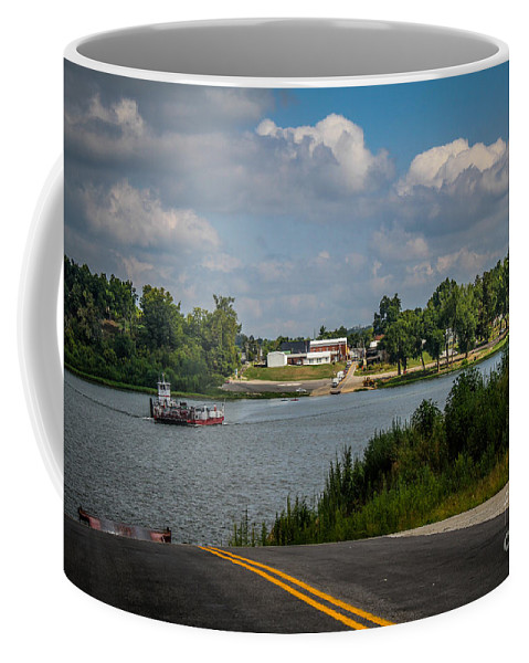 Landscape Coffee Mug featuring the photograph Ohio River At Cave In Rock Illinois by Warrena J Barnerd