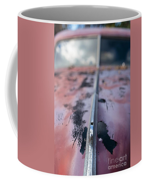 Car Coffee Mug featuring the photograph Old Junker Car by Edward Fielding