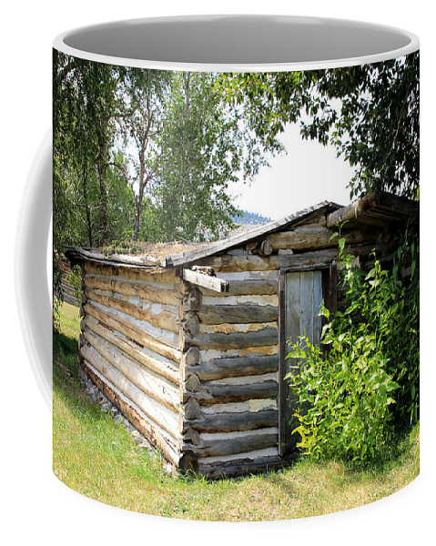 Cabin Coffee Mug featuring the photograph Old Log Homestead by Athena Mckinzie