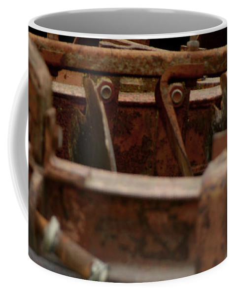 Tractor Coffee Mug featuring the photograph Old Farm Machine by Doc Braham