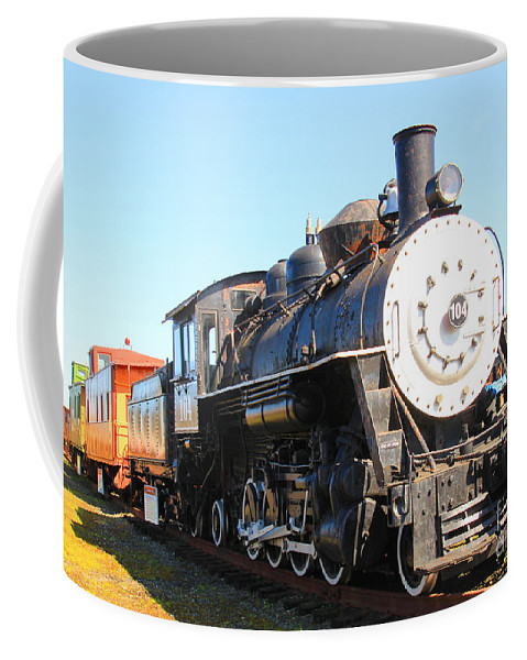 Trains Coffee Mug featuring the photograph Old Steam Engine by Kris Hiemstra