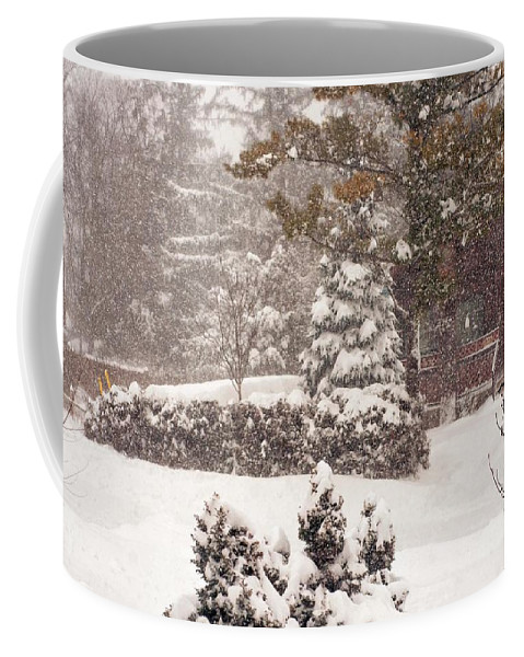 Landscape Coffee Mug featuring the photograph On A Winter Day by Steve Harrington