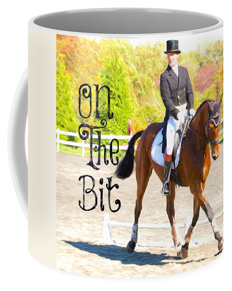 Dressage Coffee Mug featuring the photograph On The Bit by Alice Gipson