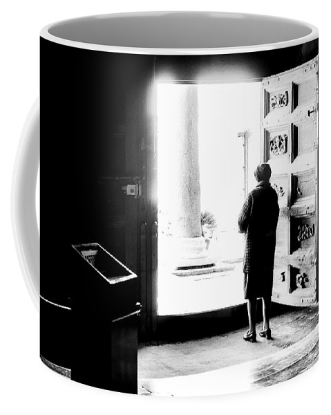 Woman Coffee Mug featuring the photograph One Step From The Unknown by Alfio Finocchiaro