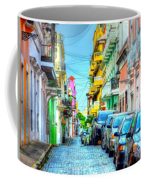 Street Coffee Mug featuring the photograph One Way by Debbi Granruth