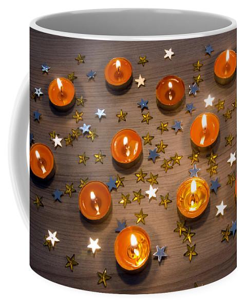 Orange Coffee Mug featuring the photograph Orange Candles by Carlos Caetano