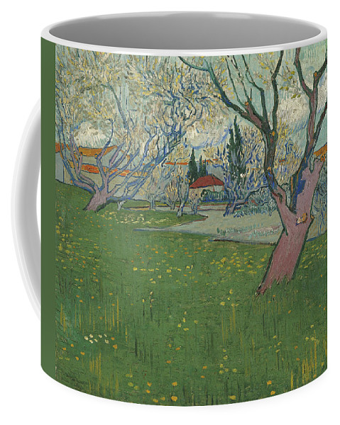 Vincent Van Gogh Coffee Mug featuring the painting Orchards In Blossom by Vincent Van Gogh