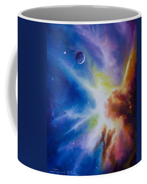 James Christopher Hill Coffee Mug featuring the painting Origin Nebula by James Christopher Hill