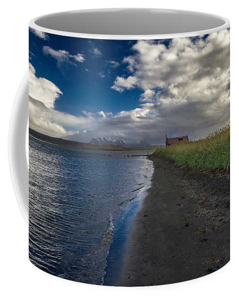 Iceland Coffee Mug featuring the photograph Osar Beach Iceland by For Ninety One Days