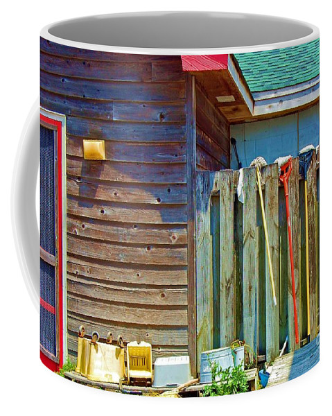 Building Coffee Mug featuring the photograph Out To Dry by Debbi Granruth