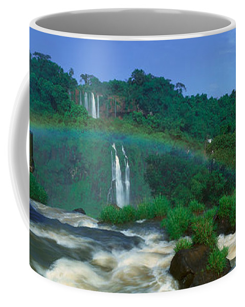 Photography Coffee Mug featuring the photograph Panoramic View Of Iguazu Waterfalls by Panoramic Images