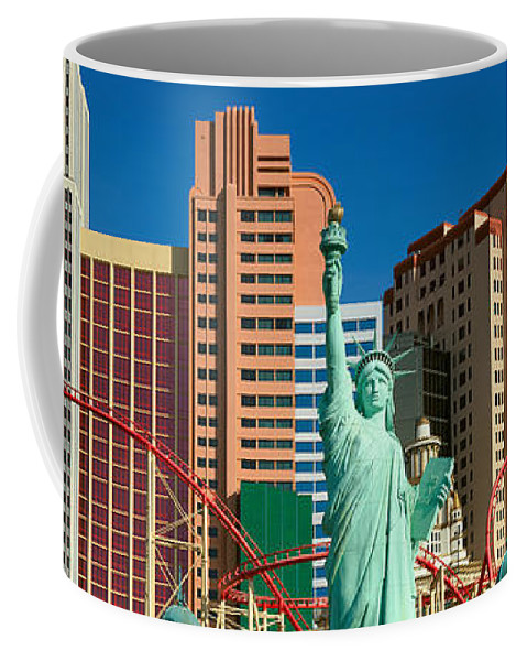 Photography Coffee Mug featuring the photograph Panoramic View Of New York New York by Panoramic Images