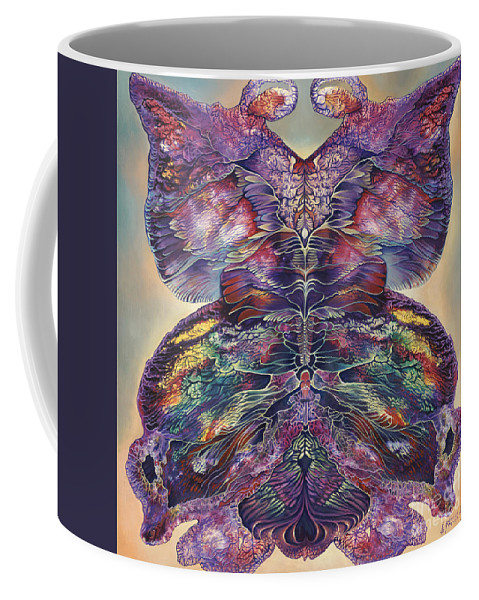 Butterfly Coffee Mug featuring the painting Papalotl Series 3 by Ricardo Chavez-Mendez