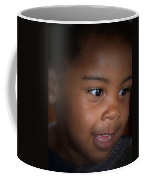 Penny For A Child's Thoughts Coffee Mug featuring the photograph Penny For A Child's Thoughts by Maria Urso