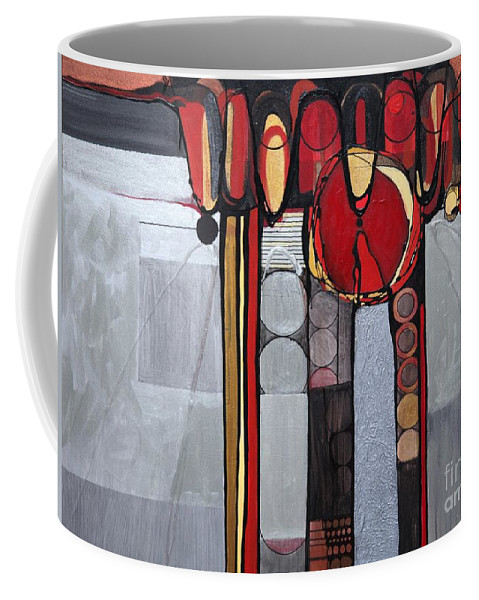 Abstract Coffee Mug featuring the painting Photo Op by Marlene Burns