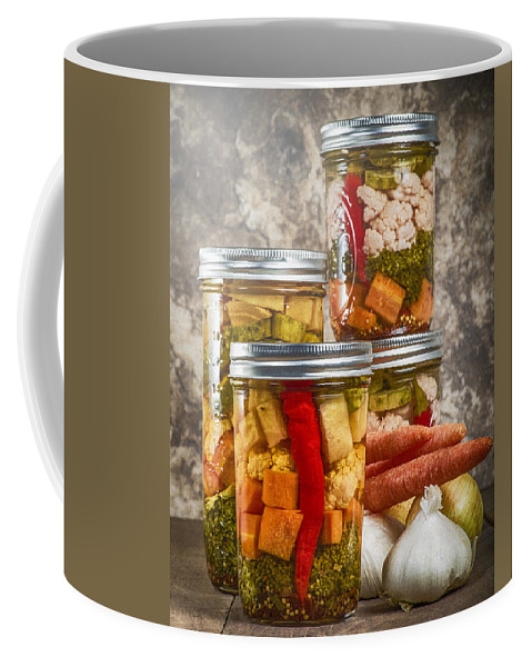 Capsicum Coffee Mug featuring the photograph Pickled Vegetables by John Trax