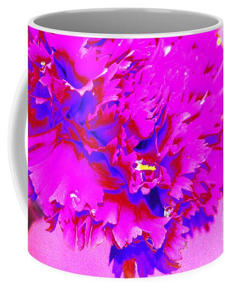 Pink Coffee Mug featuring the digital art Pink Carnation by Carol Lynch