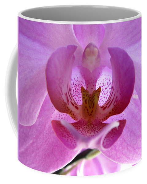 Flower Photographs Coffee Mug featuring the photograph Pink Orchid by Eva Csilla Horvath