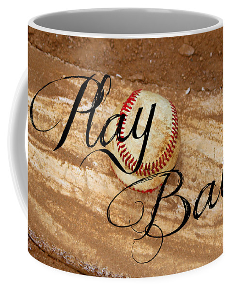 Play Coffee Mug featuring the photograph Play Ball by Tina Meador