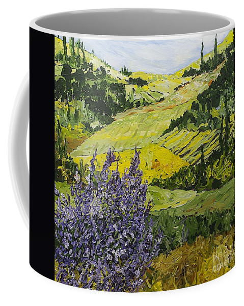 Landscape Coffee Mug featuring the painting Pleasant Heart by Allan P Friedlander