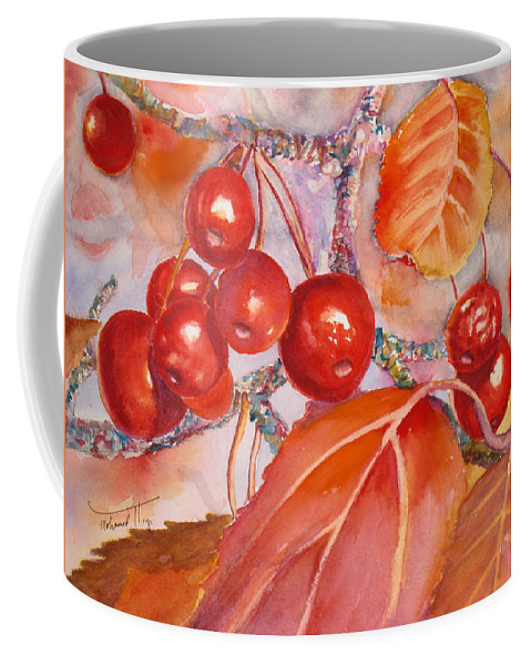 Berries Coffee Mug featuring the painting Plump And Juicy by Mohamed Hirji