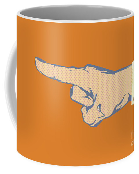Business Coffee Mug featuring the photograph Pointing Finger Vector by Tim Hester
