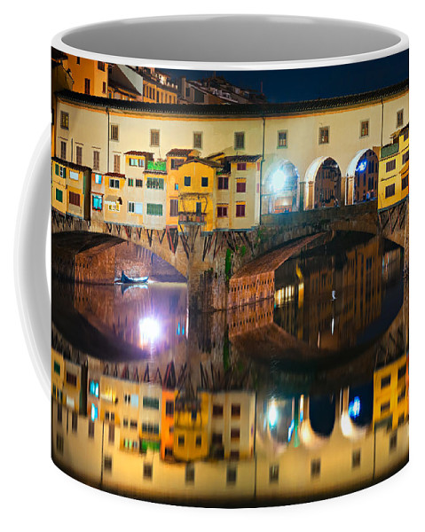Ancient Coffee Mug featuring the photograph Ponte Vecchio - Florence by Luciano Mortula