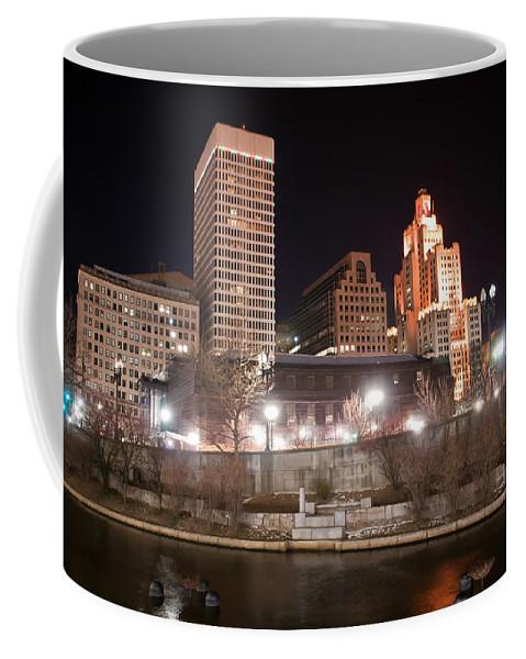 City Coffee Mug featuring the photograph Providence Rhode Island Skyline At Night by Alex Grichenko