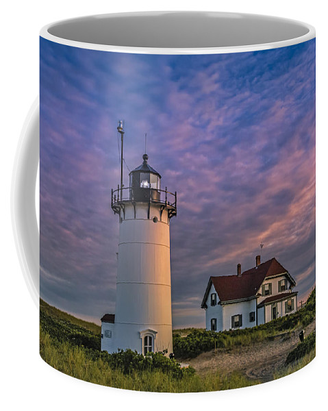 1816 Coffee Mug featuring the photograph Race Point Lighthouse Sunset by Susan Candelario