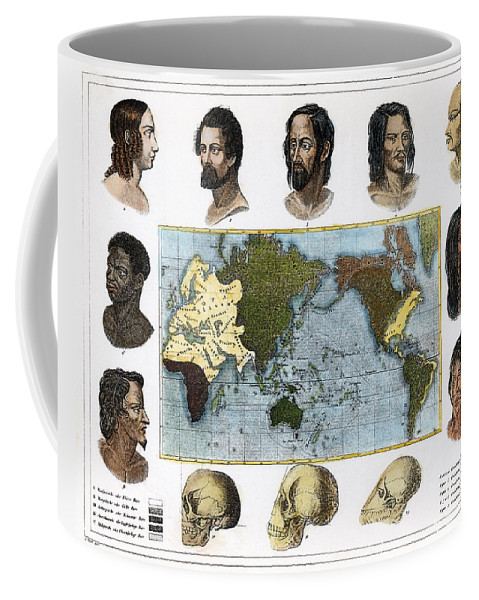 1850 Coffee Mug featuring the photograph Racial Types, 19th Century by Granger