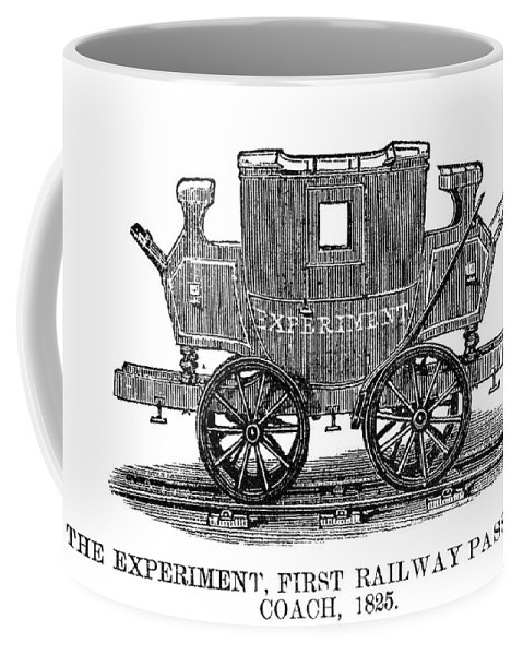 1825 Coffee Mug featuring the painting Railroad Passenger Car by Granger