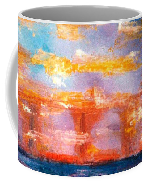Lyle Coffee Mug featuring the painting Reflection by Lord Frederick Lyle Morris - Disabled Veteran