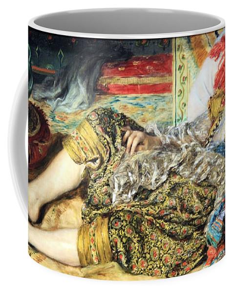 Odalisque Coffee Mug featuring the photograph Renoir's Odalisque by Cora Wandel