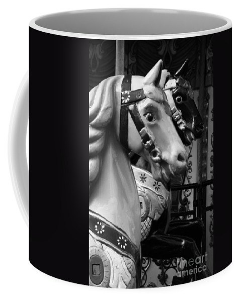 Retro Coffee Mug featuring the photograph Retro Carousel by Lali Kacharava