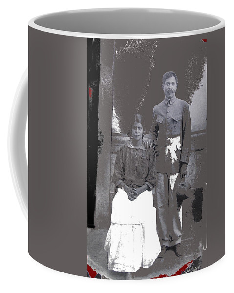 Revolutionary Couple In Studio Unknown Location 1915-1920 Coffee Mug featuring the photograph Revolutionary Couple In Studio Unknown Location 1915-1920-2014 by David Lee Guss