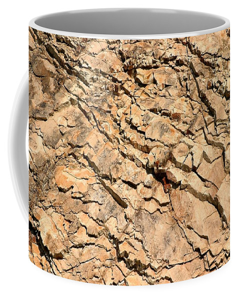 Abstract Coffee Mug featuring the photograph Rock Wall by Henrik Lehnerer