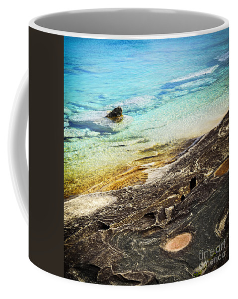 Water Coffee Mug featuring the photograph Rocks And Clear Water Abstract by Elena Elisseeva