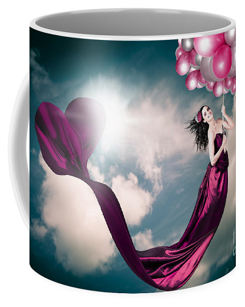 Accessories Coffee Mug featuring the photograph Romantic Girl In Love With Beauty And Fashion by Jorgo Photography - Wall Art Gallery