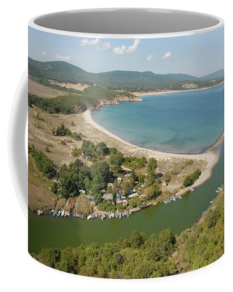 Ropotamo River Coffee Mug featuring the photograph Ropotamo by Tatyana Baykusheva