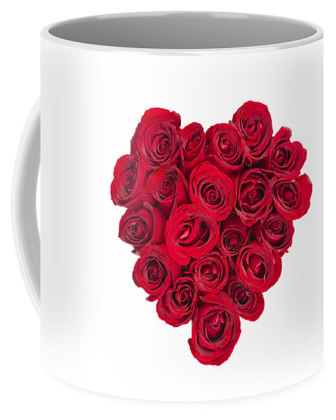 Rose Coffee Mug featuring the photograph Rose Heart 1 by Elena Elisseeva